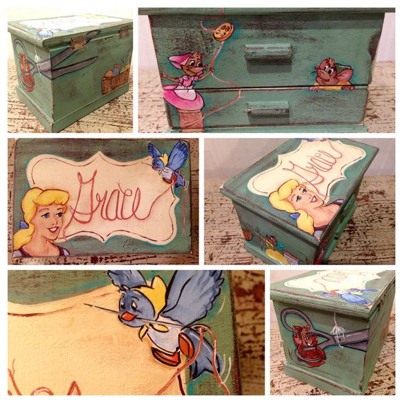 $75. Handpainted/crafted, vintage, cinderella, personalized, children's jewelry box