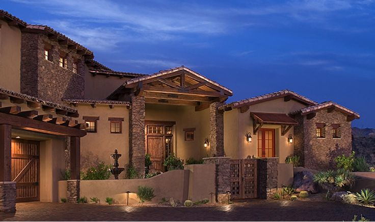 Spanish colonial ranch home series southwest ranch for Spanish colonial exterior paint colors