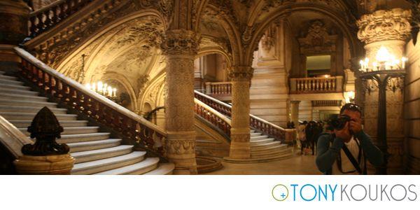 Paris opera house, France, marble, stairs, Tony Koukos, Koukos