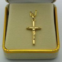Solid Gold Crucifix Pendant.