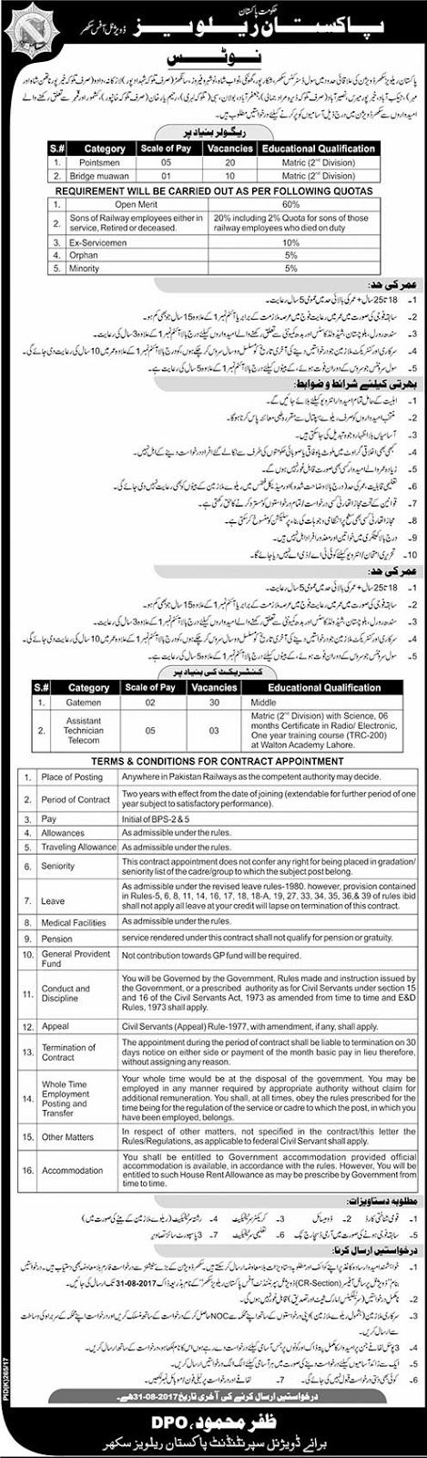 Jobs in Pakistan Railways Divisional Office Sukkur Sindh http://ift.tt/2u0kewB