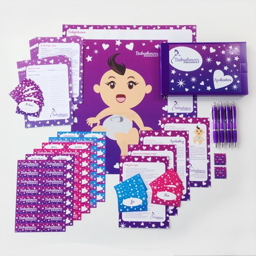In de babyshower spellenbox zitten 8 babyshower spelletjes die gemakkelijk te spelen zijn en een hoog fun-gehalte hebben. Speel spellen als Raad de Naam, Wie ben ik? Babyhints, Babytekenen,  BabyQuiz en Kinderliedjes raden. Bestel de spellenbox voor slechts €10.95