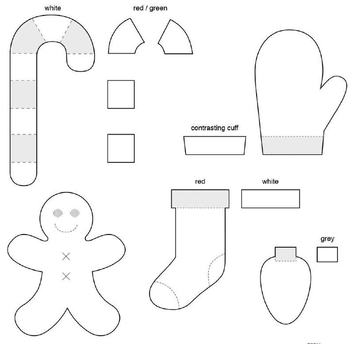 Free Felt Patterns for Christmas Ornaments
