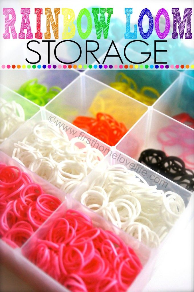DIY Rainbow Loom Storage Box | First Home Love Life