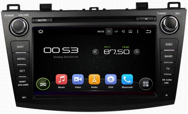 Ouchuangbo car audio dvd gps radio multimedia fit for Mazda 3 2009 2010 2011 2012 with BT quada core 1024*600 android 5.1 OS