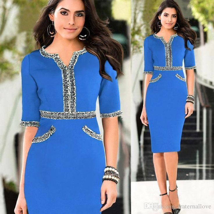 2017 2016 New Office Working Dress Cheap Tunic Pencil Bodycon Women Dresses Fashion Casual Work Ladies Trendy Clothes From Fraternallove, $19.4 | Dhgate.Com