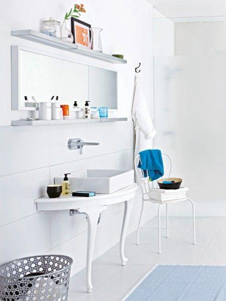 so wird ein alter esstisch zum waschtisch aus alt mach. Black Bedroom Furniture Sets. Home Design Ideas