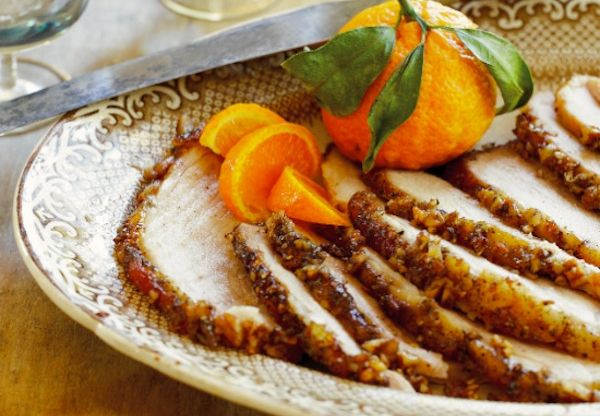 Pecan, Bourbon And Cane Syrup Ham