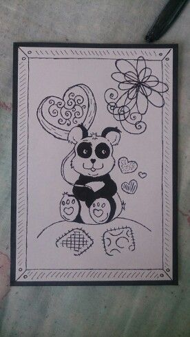 Doodle panda bear