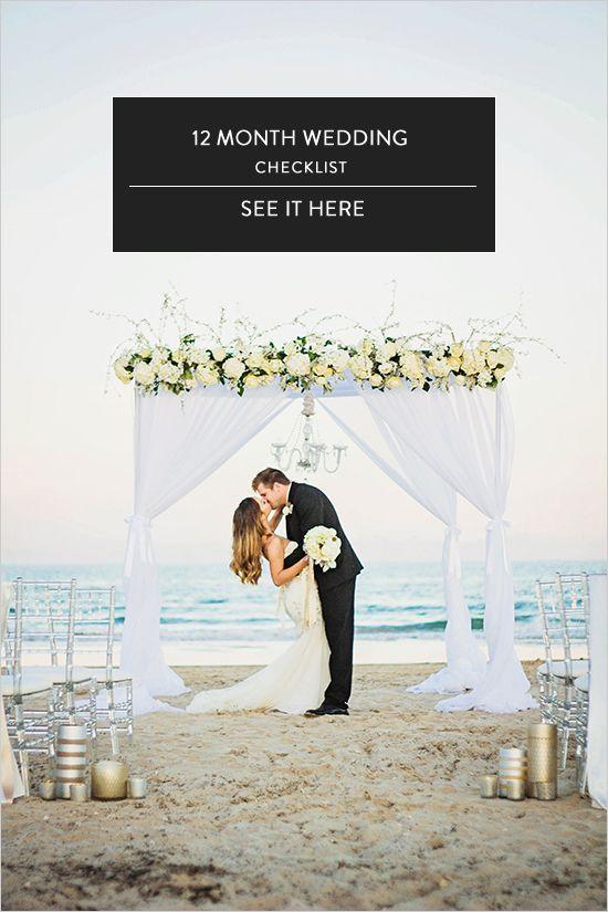 12 Month Wedding Checklist @weddingchicks