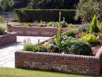 outdoor raised flower beds   raised flowerbeds, water features, barbeques and many other garden ...