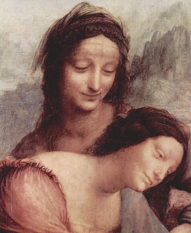 26 de julio: Santa Ana, madre de María y abuela de Jesús. Cuadro de Leonardo da Vinci.