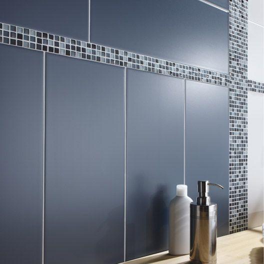 carrelage mural loft en fa ence gris zingu n 3 20 x 50. Black Bedroom Furniture Sets. Home Design Ideas