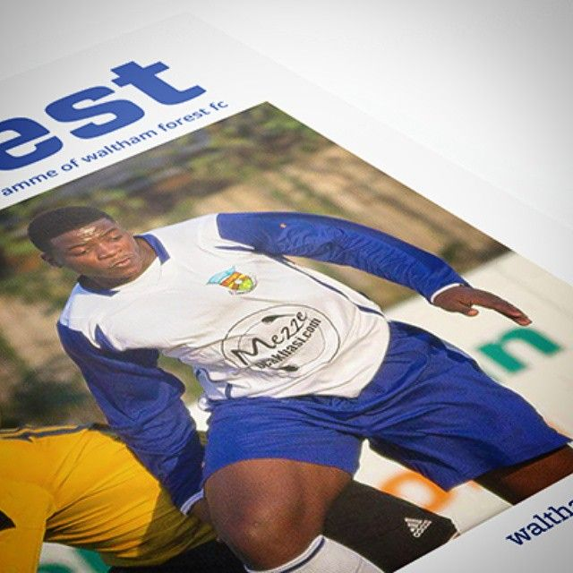 Latest work - Waltham Forest match-day programme 2014-15. https://www.behance.net/gallery/25806711/Waltham-Forest-FC-Matchday-Programme-2014-15