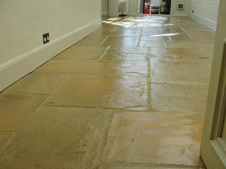 17 best images about flagstone floor on pinterest rubber for Tiled hallway floor ideas