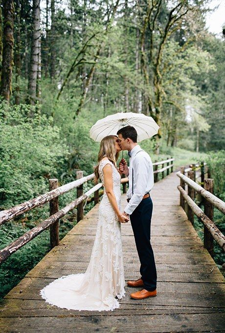 Most brides' biggest wedding-day fear? After having a no-show groom, it's likely rain in the forecast. The first fear is legit, but the second one — not so much. Yes, rain can put a damper on your big-day plans, but it's really not as detrimental to your day as you would imagine. In fact, rain can make for some beautiful wedding photos. While we'll hand it to you that seriously dangerous weather, like floods, tornadoes, or a significant snowstorm, can wreak havoc on your plans, a typical…