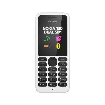 Nokia 130 Telefono Cellulare, Bianco [Italia]