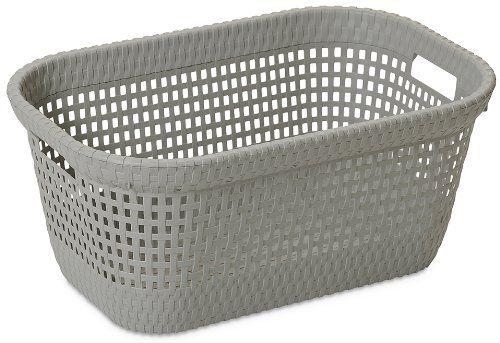 DEA Home ART438 Rattan 45 Laundry Basket Polypropylene 60 x 40 x 26 cm Taupe