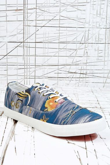 Gram 352g Canvas Shoes in Blue Aquarium at Urban Outfitters