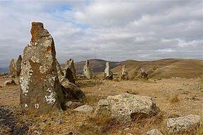 Zorats Karer 2008, part of the stone circle.jpg