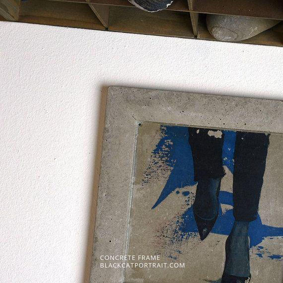 concrete art frame amazone 1 by blackcatportrait on etsy - Etsy Frames