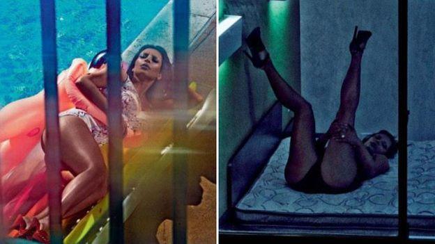 La modelo estadounidense, Kim Kardashian, lució sus atributos físicos en una osada producción fotográfica para la revista inglesa 'The Love Magazine'. Kim filtró algunas de sus fotos más candentes en su cuenta de Twitter. Febrero 06, 2015.