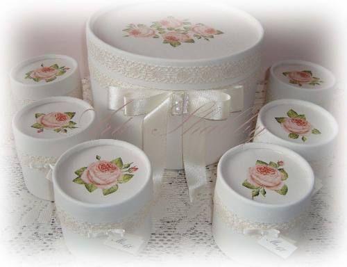 Souvenirs Cajitas Shabby Chic Casamiento 15 Años Eventos - $ 240,00