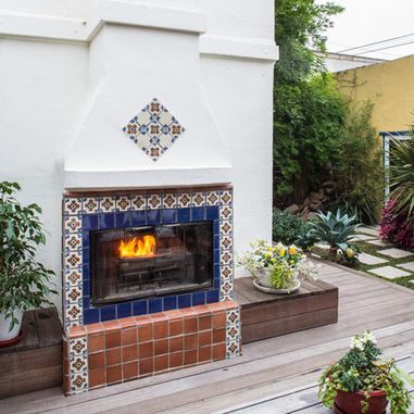 Mexican Fireplace Design Ideas, Pictures, Remodel, And Decor