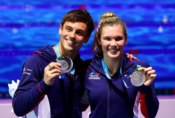 Great Britain's Tom Daley and Grace Reid win silver in the 3-meter synchronized diving at the FINA World Championships.