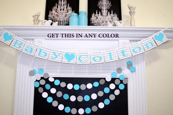 Baby Shower Banner Sign Shower Garland Welcome Baby Bunting
