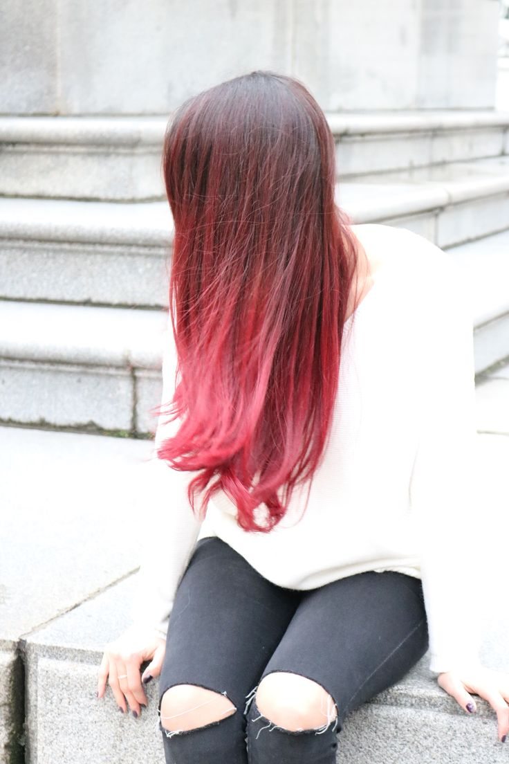 Red Ombre, Brot, long hair, red hair, hair colour