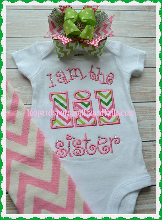 I Am The Lil Sister Embroidered Shirt or Onsie - Pregnancy annoucment - New baby - Newborn Girl - Little Sister on Etsy, $22.00