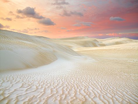 Milky white sand and an early morning sky. Just gorgeous. Cervantes sand dunes, Western Australia.