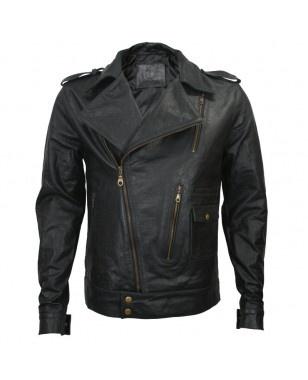 Urban Military Off-Zip Leather Jacket: Lance