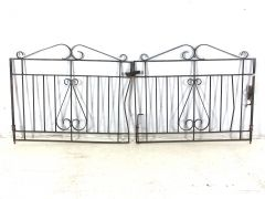 Gates & Fencing. Steel gates, wrought iron gates, timber gates, singles, double sets & fencing Stock changing weekly, Prices from $50 www.hughesonline.com.au