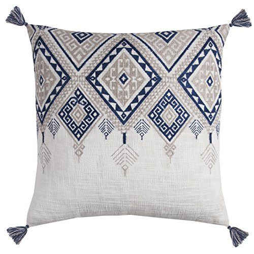 Rizzy Home Pilt11500ivbl2020 Tribal Aztec With Tassels De