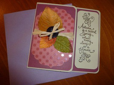 Handmade Greeting Card Autumn is a Second Spring