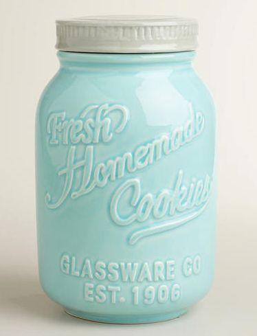 Retro Mason Jar Ceramic Cookie Jar http://rstyle.me/n/tk696bh9c7
