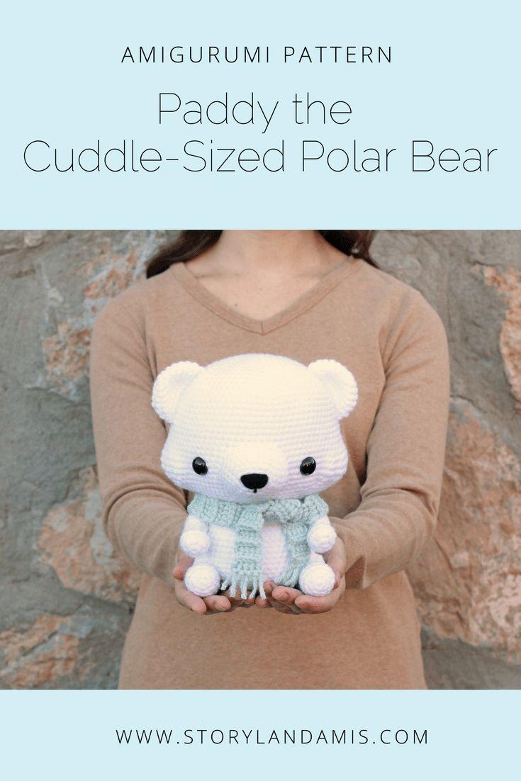 Storyland Amis, Paddy the Cuddle-Sized Polar Bear Amigurumi Pattern