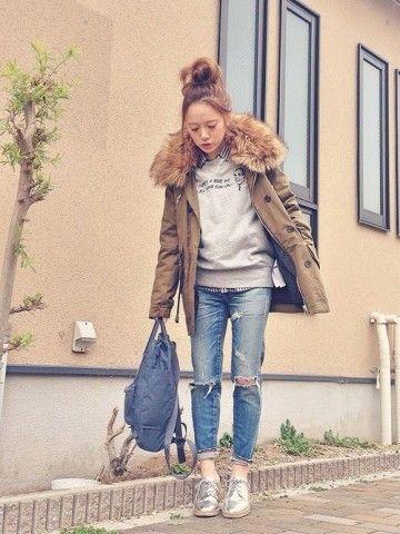 カジュアルなコーデにモッズコートをチョイス♪参考にしたいボーイズデニムのコーデ・スタイル・ファッション☆