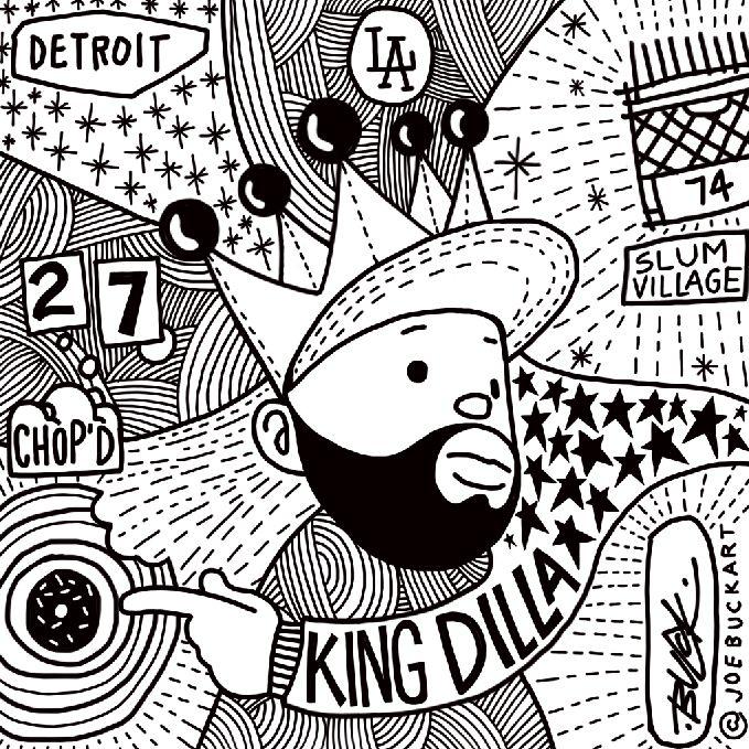 J Dilla Slum Village Detroit / joebuckart- art - popart