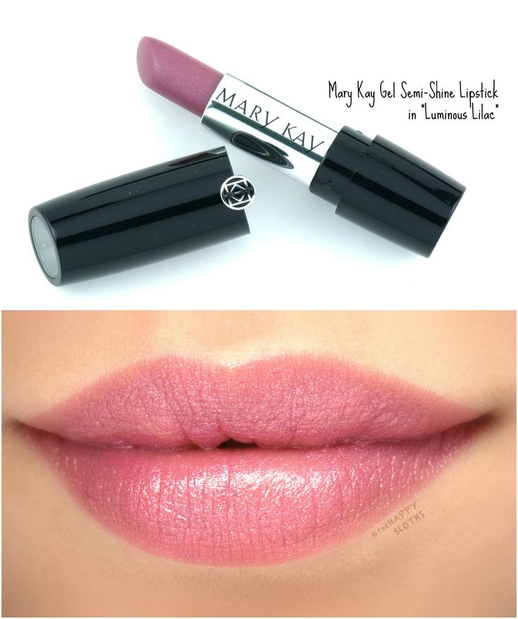 """Mary Kay Gel Semi-Shine Lipstick in """"Luminous Lilac"""": Review and Swatches"""