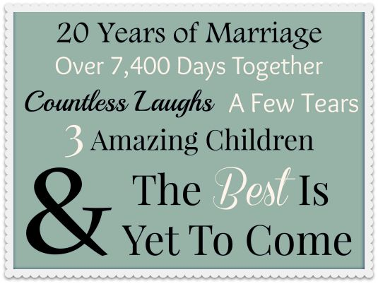 Happy 20th Anniversary To My Special Guy...20 Reasons Why I Love You!  www.thatonemom.com