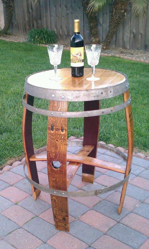Items Similar To Table Made From Recycled French White Oak Wine