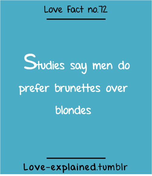 Love facts (love,blonde,brunette,fashion,beauty,style,makeup,blue,interesting,fact)