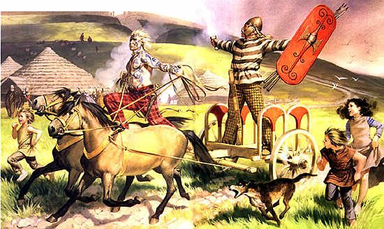 British charioteer and nobleman, 100 BC, the British Celts of Southern Britain were closely associated with the Belgae across the channel. Many warriors from this region went to assist the Gauls and Belgae in their wars with Caesar.