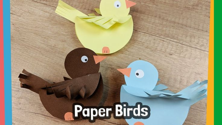 How to make paper Birds - simple craft activity for kids