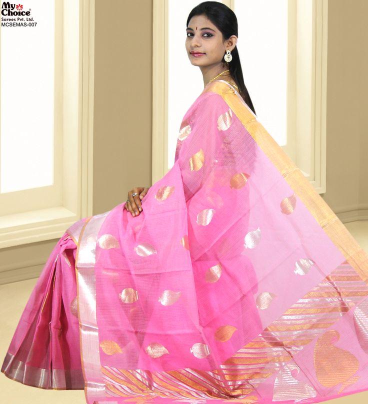 Pink Zari Kota Saree