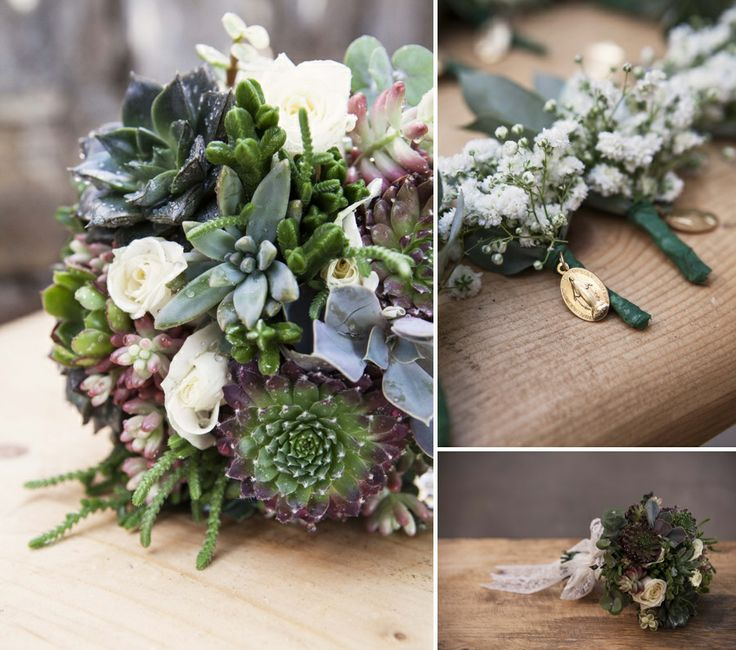 The bridal bouquet with wild flowers!Unique!