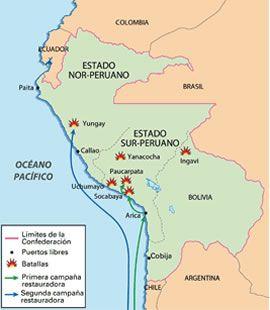 Guerra Contra la Confederación Peruano - Boliviana: http://historiadelperu.carpetapedagogica.com/2012/07/guerra-contra-la-confederacion-peruano.html